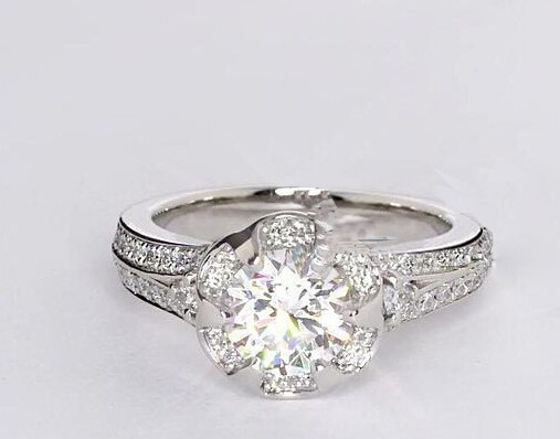 Real Sterling silver 3 Carat NSCD Diamonds Lab Diamond Ring for women Diamonds wedding Engagement Ring (BB) недорго, оригинальная цена