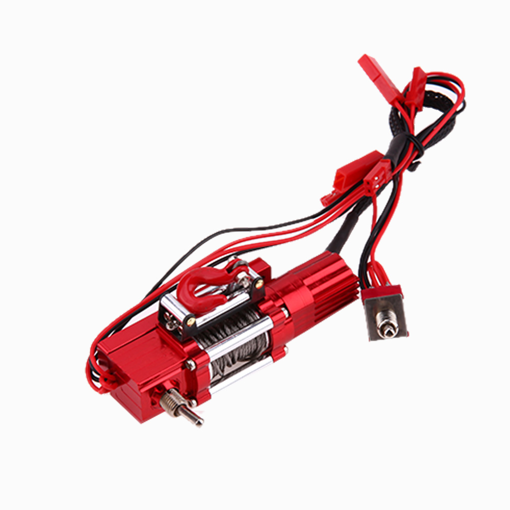 Metal Steel RC Car Repaire Replacement Wired Automatic Winch with Double Switch for Traxxas Hsp Redcat RC4WD Tamiya Axial