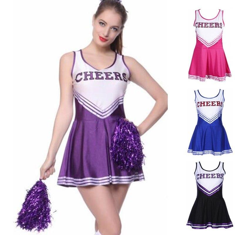 50pcs Women&Girls Cheerleading Uniforms Basketball Football Game National&Club Team Cheerleading Dress Lala Flower Cheer Props