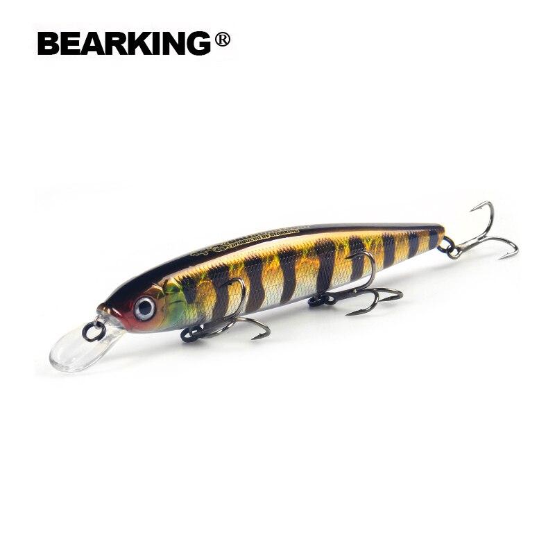 Bearking 13 cm 25g Tungsteno palle lunghe colata Nuovo modello esche da pesca hard bait immersione 1.3-2 m qualità professionale minnow