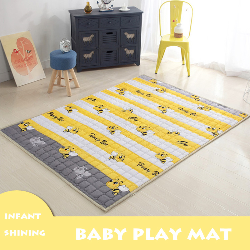 Infant Shining Baby Play Mat Treasure Climbing Mat Children's Non-slip Climbing Mat Game Mat Machine Washable Puzzle Carton цена 2017