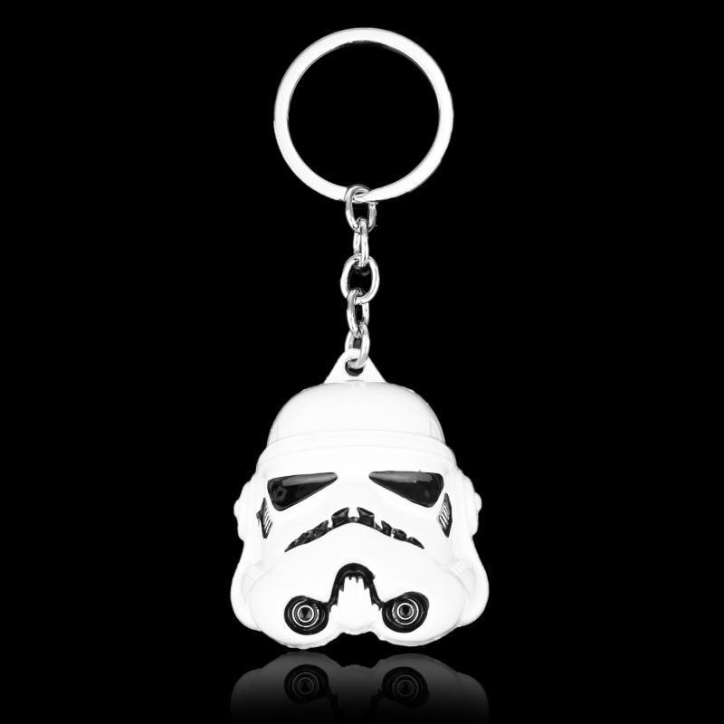 Movie Jewelry star wars Stormtrooper metal keychain Metal Telescopic Lightsaber Pendant Keychain Ring Black key chain G3-5-302