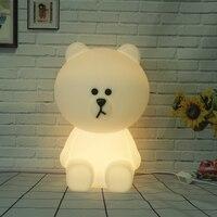 Bear Led Night Light Lamp For Baby Children Kids Gift Animal Cartoon Bedside Bedroom Living Room