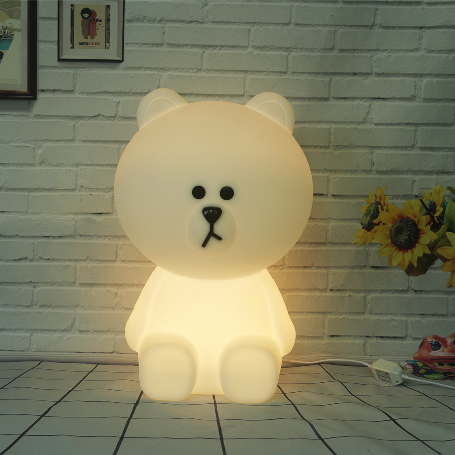 Bear Led Night Light Lamp for Baby Children Kids Gift Animal Cartoon Bedside Bedroom Living Room Decorative Lighting Eu Plug top baymax cartoon night light lamp 110v 220v us eu plug baby room led energy saving lamp kids light bedside lamp lighting