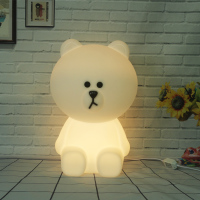 Bear Led Night Light Lamp For Baby Children Kids Gift Animal Cartoon Bedside Bedroom Living Room