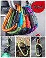 Envío Gratis mosquetón de Escalada 8 cm bloqueo tipo d quickdraw mosquetón hebilla colgante de aluminio tuerca mochila hebilla #1217
