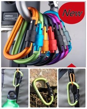 free shipping carabiner climbing 8cm locking type d quickdraw carabiner buckle buckle hanging aluminum nut backpack buckle #1217 набор для путешествий carabiner d cimbing edcgear se063