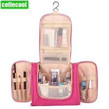 Unisex Women Cosmetic Bag hook Travel Makeup Bags Washing Toiletry Kits Storage Waterproof Nylon Organizer