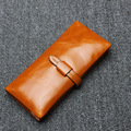 2016 New High Quality Women Wallets Genuine Leather Long Ladies Luxury Purse Women's Designer Famous Brand Envelop Clutch Wallet