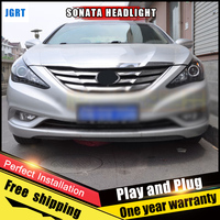 2PCS Car Style LED Headlights For Nissan Sonata8 2013 For Sonata 8 Head Lamp LED DRL
