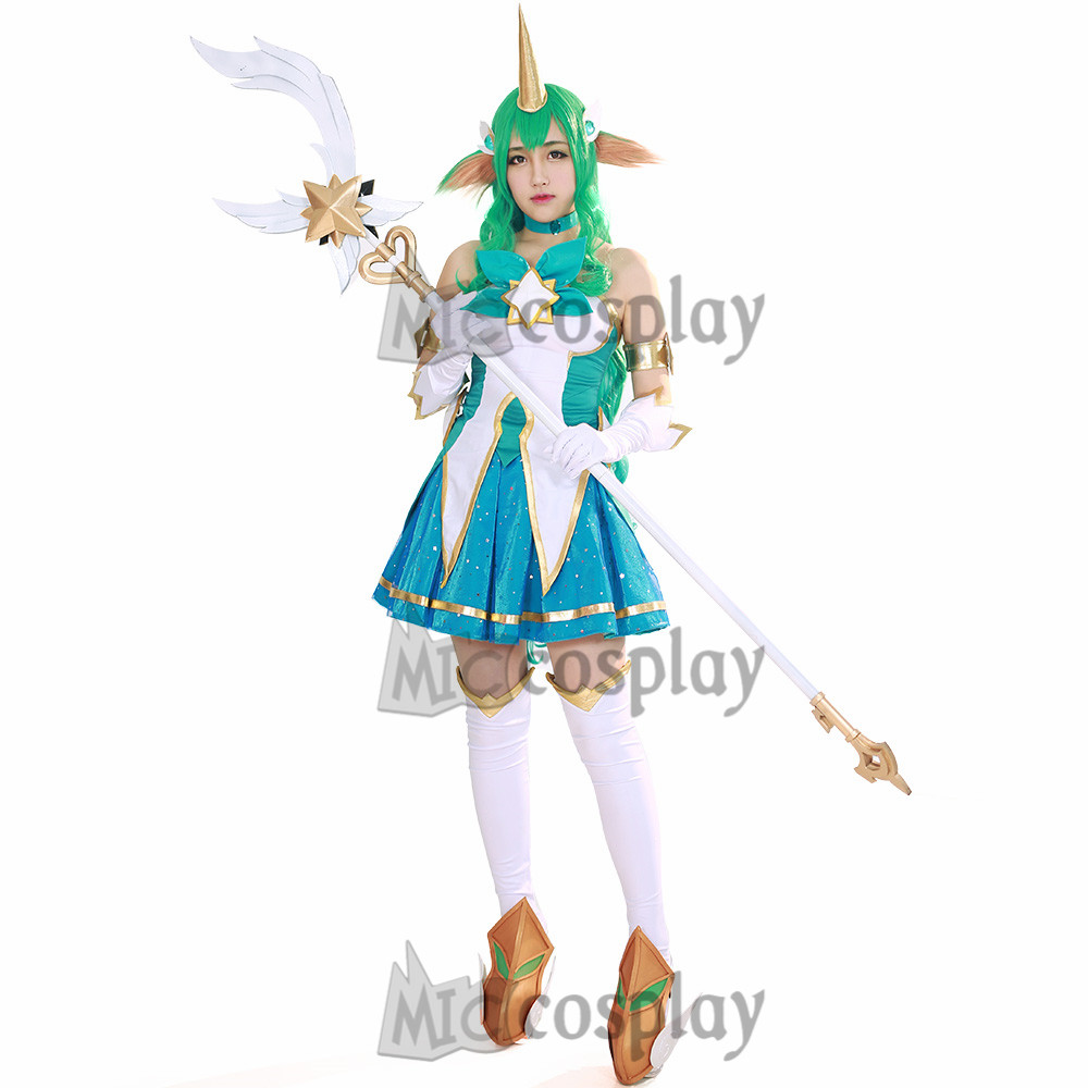 Soraka Cosplay Costume Woman Halloween Outfit Fancy Dress