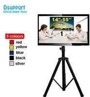 ( 1 pair ) 14 40 Movable Folding LCD TV Floor Stand TV Mount Cart Display Rack Full Motion TV Tripod Loading 50kgs TRKX22