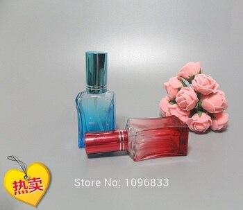 15ML Colorful Perfume Atomizer, 15CC Glass Perfume Bottle, Spray Bottles, Empty Parfum Vial, Square Glass Bottle, 40pcs/Lot