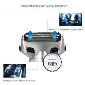 Image 2 - Orijinal Panasonic Üç kafa pistonlu şarj jilet Su Geçirmez Şarj Edilebilir erkek Elektrikli Tıraş Makinesi düzeltici ES BSL4