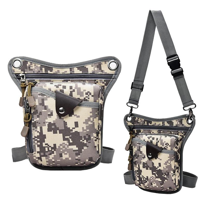 Fashion Nylon Men Leg Bag New Unisex Tactical Leg Fanny Pack Casual Boys Waist Bags Multi-function Crossbody Shoulder Bags Male