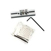 Solder Reballing Template Holder Jig With 29pcs Universal Direct Heating BGA Stencils