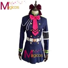Anime Seraph de la fin Shinoa Hiragi uniforme militaire ensemble complet Cosplay Costume robe sur mesure