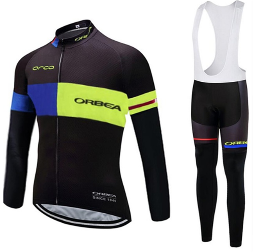 New Summer Orbea cycling jersey pants set Ropa Ciclismo MTB mens pro cycling wear long sleeve Bicycling Maillot jersey Culotte