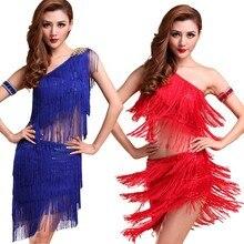 Sexy Women Latin Dance Skirts & Rhythm Salsa Cha Cha Tassels Tango Dress Top Ballroom Y46 S88