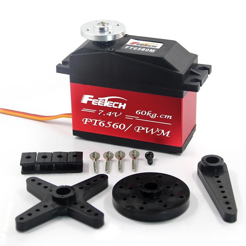 Feetech 7.4V 60kg.cm Rc Servo 60KG High Torque Metal Gear 120 degrees Digital Servo Core motor For Robot Rc Car Parts