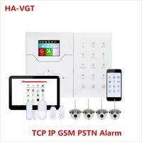 Новое поступление цветной дисплей Ethernet TCP IP GSM сигнализация для дома Smart Security защиты встроенный датчик температуры