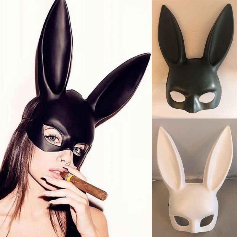 Halloween Long Ears Rabbit Bunny Mask Party Costume Cosplay Masquerade
