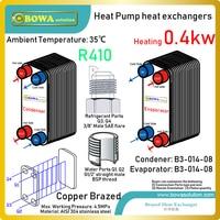 340 kCal R410a evaporatör ve kondenser için tasarlanmıştır ısı pompası su soğutucular almak için soğutulmuş su veya sıcak su tarafından talepleri|heat pump heat exchanger|heater heaterevaporator condenser -