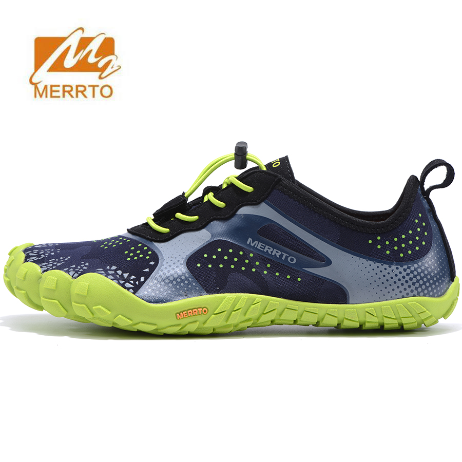 MERRTO Men's Five Toes Hiking Trekking Shoes Sneakers For Men Sports Jogging Climbing Mountain Shoes Man Senderismo merrto men s sports leather outdoor hiking trekking shoes sneakers for men wearable climbing mountain shoes man senderismo