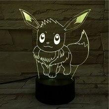 Pokemon Go Eevee Figure Kids Night Lamp LED Touch Sensor luminaria Decorative Festival Gift Bedroom Led Light