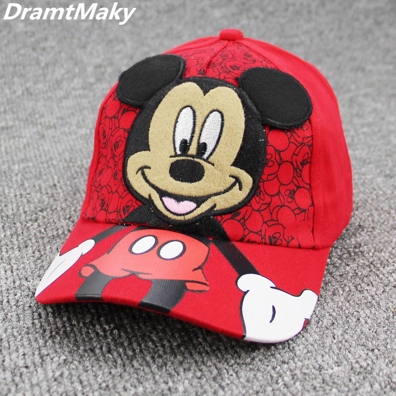 Children lovely Baseball Cap Kids Baby Boys Girls Adjustable Caps Fashion Cartoon Mickey Minnie Snapback Hip Hop Hat masculino new fashion children summer baseball cap cartoon character design hip hop hats 3 to 12 year old girl boy kids lovely snapback
