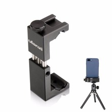 Ulanzi ST-02s Metal Smartphone Tripod Mount Clipper with Cold Shoe Vertical Horizontal for iPhone Video Filmmakers Vloggers