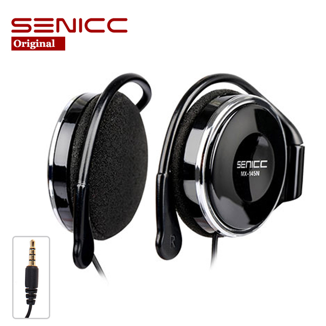 Original SOMIC SENICC MX-145N Stereo Extra Bass Headset EarHook Earphone 3.5mm plug With Mic For Mp3 Player Pad Mobile Phone