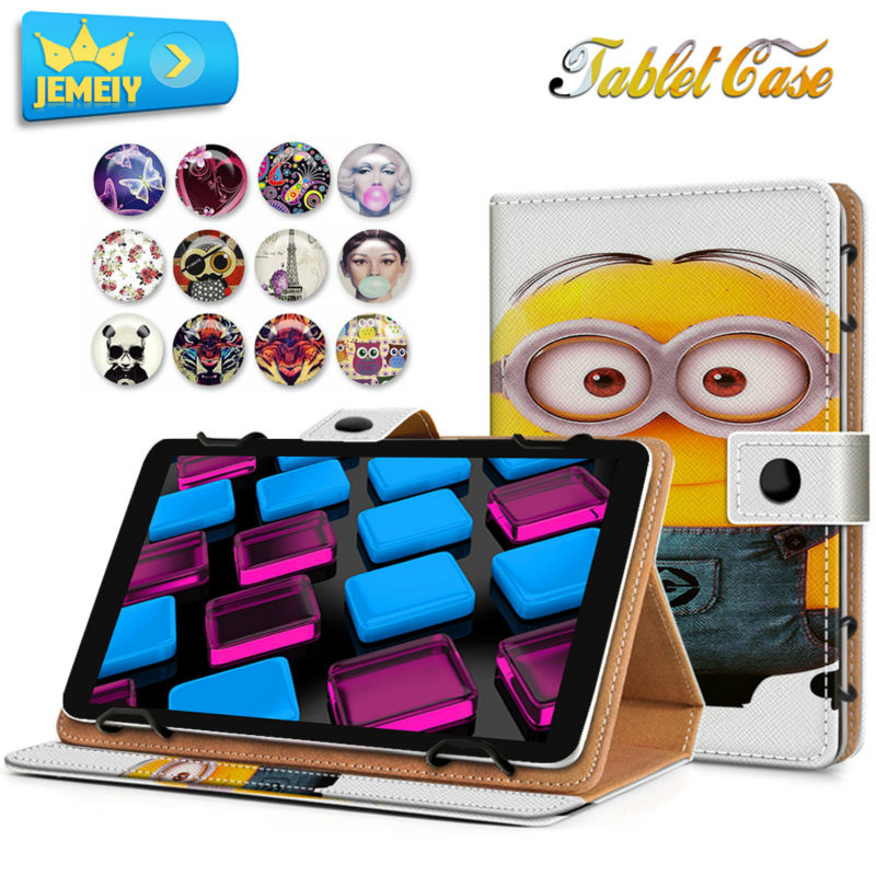 8'' PU Leather Universal case Cover For Cube Talk 8 U27GT /Colorfly CT801 /HP Compaq 8 case,Minions Printed Tablet Stand case universal 61 key bluetooth keyboard w pu leather case for 7 8 tablet pc black