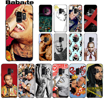 Babaite Chris Brown DIY Luxury High-end Protector Phone Case For GALAXY s7 edge s8 plus s9 plus s6 s6 edge s10 s10 plus s10 Lite image
