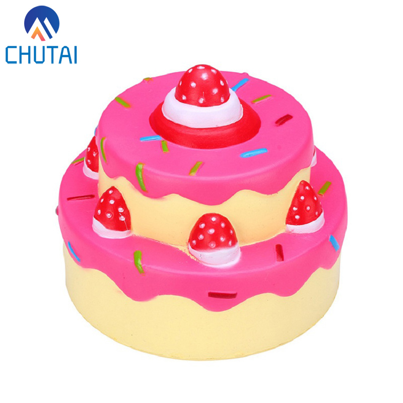 Two-layer Birthday Strawberry Cake Kawaii Jumbo Squishy Slow Rising Squeeze Toys Soft Scented Release Stress Palything 11.5*11CMTwo-layer Birthday Strawberry Cake Kawaii Jumbo Squishy Slow Rising Squeeze Toys Soft Scented Release Stress Palything 11.5*11CM