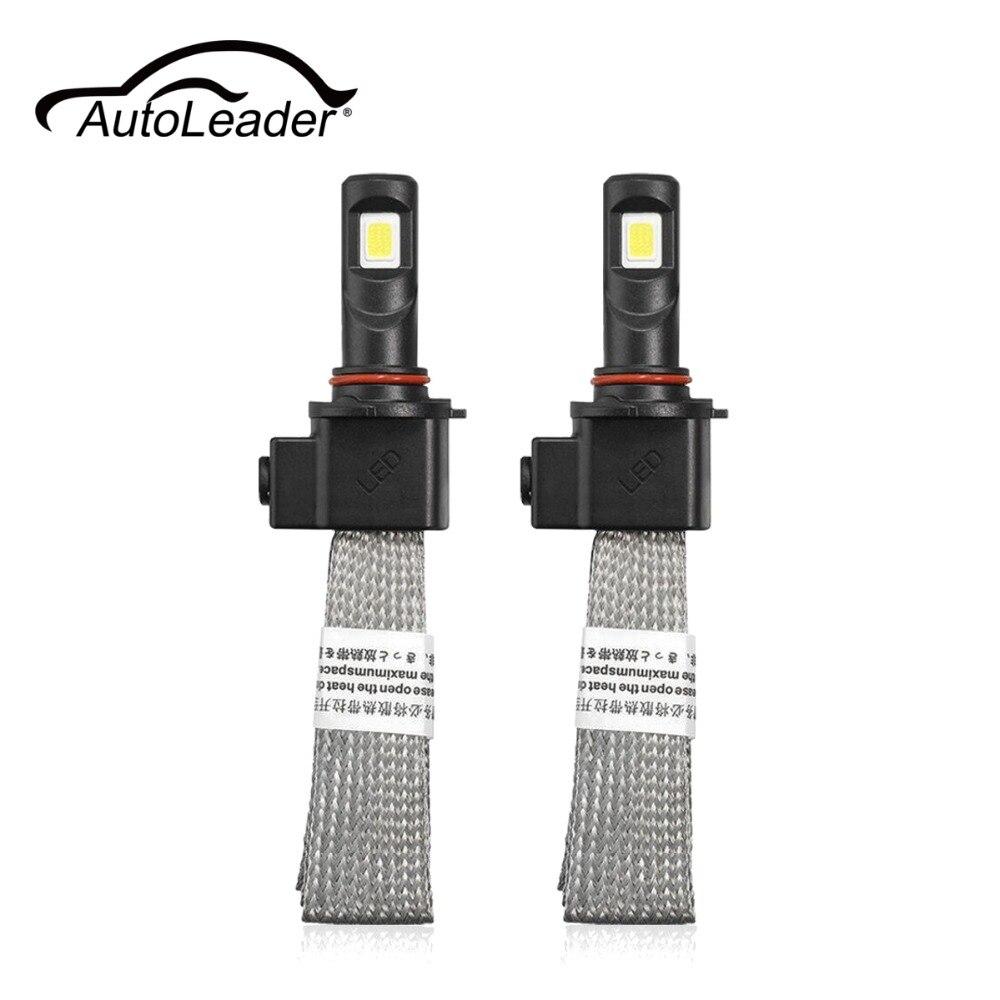 AutoLeader 9005/9006/H4/H13 LED Headlight High/Low Beam Light Bulbs 30W 6000K White DC 9V-30V COB LED Chips