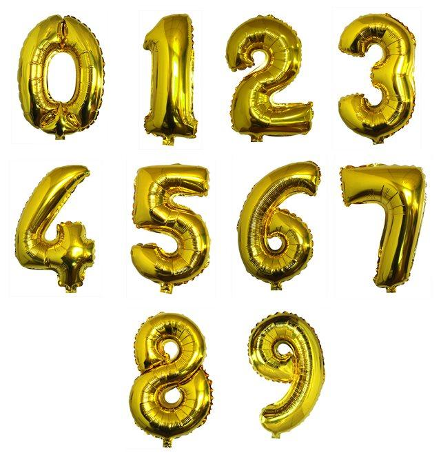 Aliexpress Buy 1pcs 40 inch Gold balloons Digital 0 9 Number