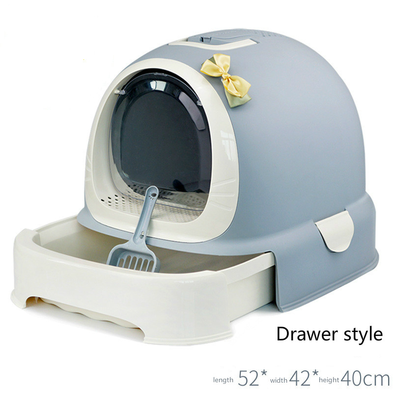 US card litter box fully enclosed cat toilet fat oversized sand bowl large single layer potty drawer