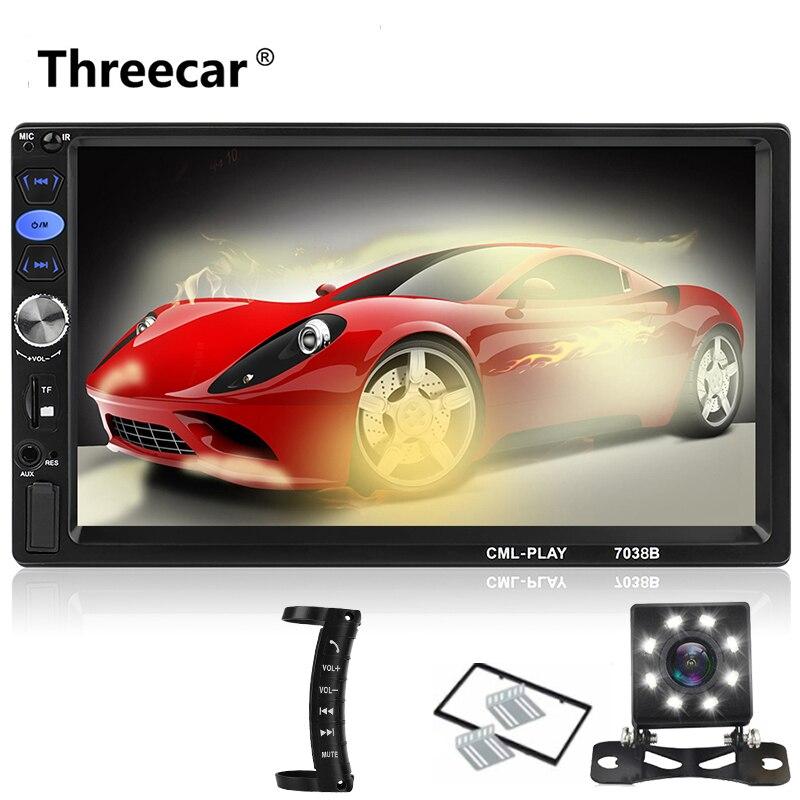 Nova Fábrica 7038B 2din Rádio Do Carro 7 MP5 Bluetooth Car Stereo Radio Audio Media Car Multimedia Player com Android ligação espelho
