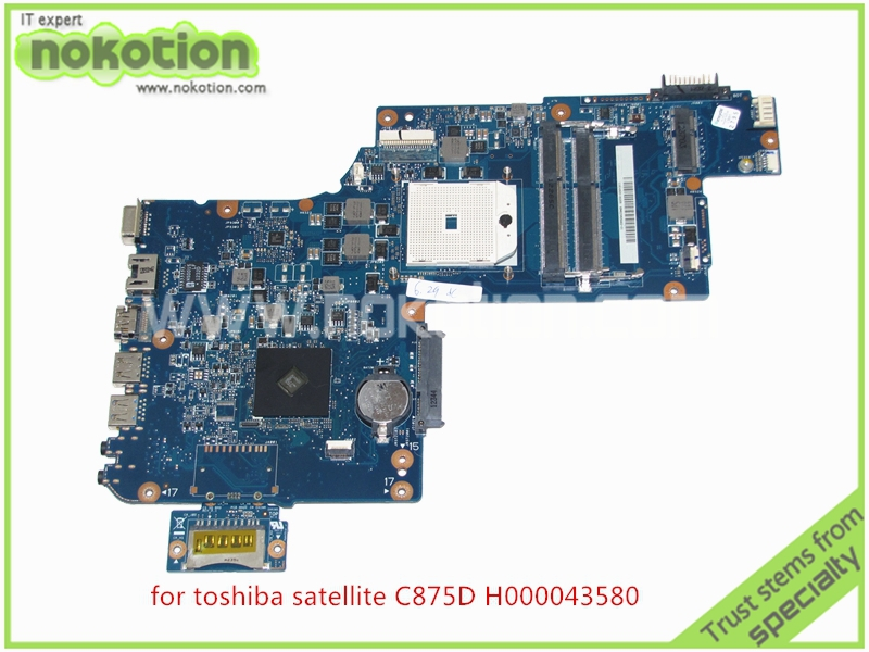 H000043580 Laptop motherboard For toshiba Satellite C875D L870 L875 C875 Series AMD DDR3 PLAC CSAC UMA rev 2.1 h000041580 for toshiba satellite l870d c870 c870d laptop motherboard 17 3 ati graphics plac csac dsc mainboard