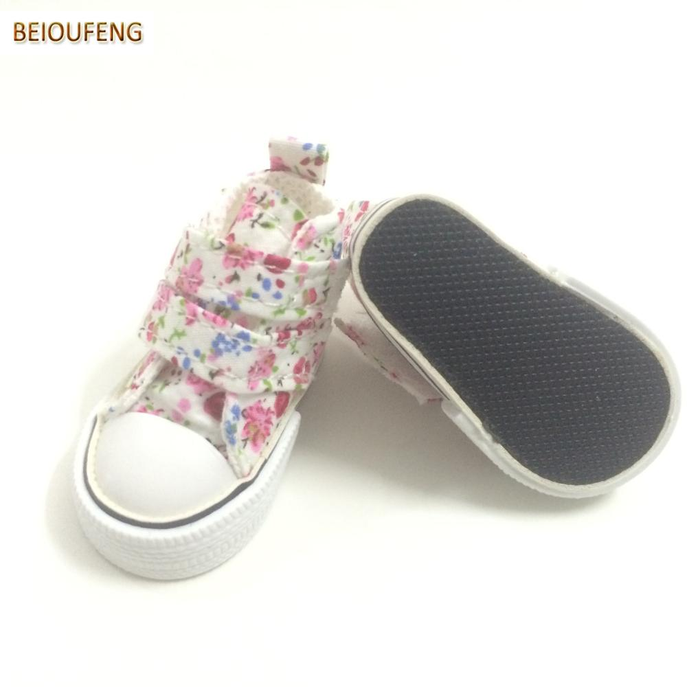 6CM Mini Toy Canvas Shoes 1/4 BJD Doll Shoes for Paola Reina Dolls,Causal Sneakers Shoes Doll Boots Dolls Accessories 6 Pair/Lot-in Dolls Accessories from Toys & Hobbies    3