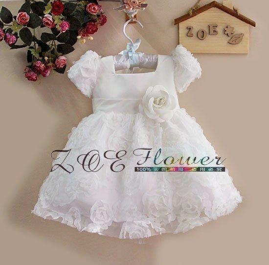 Baby White Dress - Qi Dress
