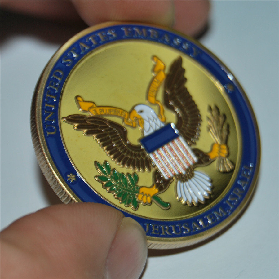 United States Embassy Jerusalem Israel Challenge Coin - Dedicated May 14, 2018 (11)
