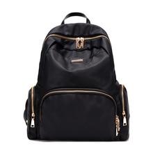 2017 НОВАЯ Корейская мода Черный рюкзак Случайные женщины рюкзаки Оксфорд Опрятный Стиль мешок школы для девочек и девушек Бесплатная доставка