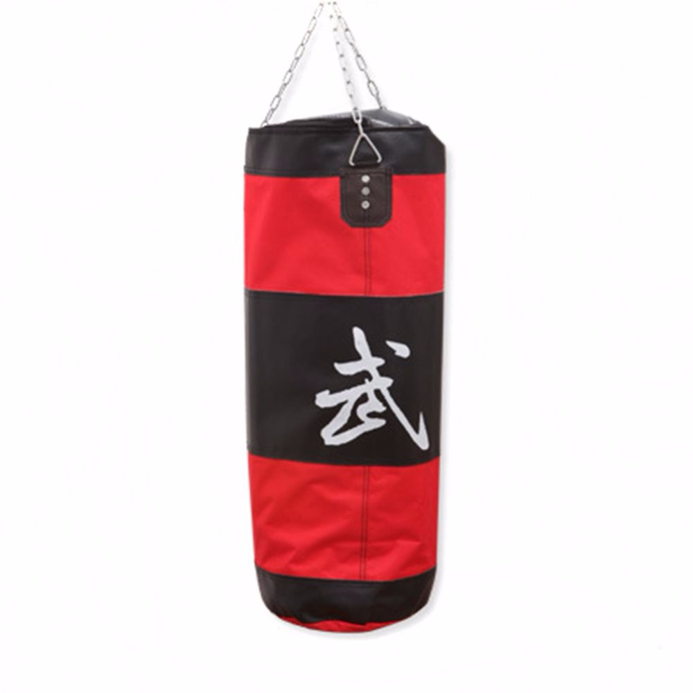 Fitness Empty Boxing Bag Gym Punching Sandbag Hollow Mma Hanging Kick Punch Bags Training Equipment Tool Red 70cm 100cm In Sand