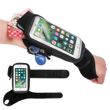 Sport Bicycle Wrist Bag Armbands Case For iPhone SE 2 11 Pro Max Xs XR X 7 8 Plus Samsung A51 S20 Huawei Bike Phone Holder Pouch