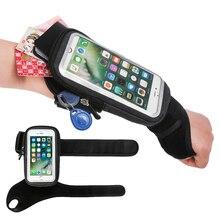 Torba sportowa na nadgarstek torba na ramię dla iPhone SE 2 11 Pro Max Xs XR X 7 8 Plus Samsung A51 S20 Huawei uchwyt na telefon komórkowy etui