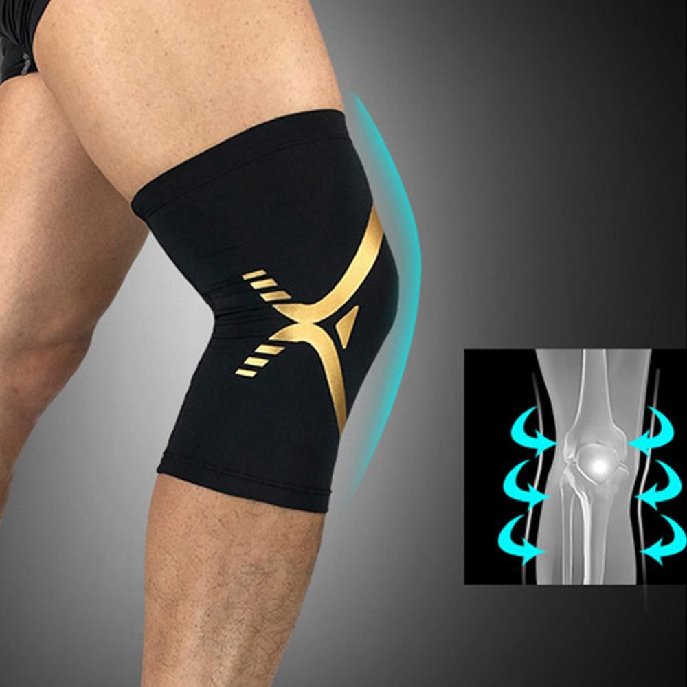 1pc Knee Pads Sleeve Breathable Anti-slip Compression Leg Warmer Protector Unisex Outdoor Gym Fitness Sports Shock Knee Pads New