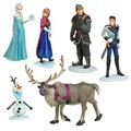 Free shipping Foreign Trade 6-piece Snow Queen Action Figure Play Set Anna Elsa Hans Kristoff Sven Olaf Bulk Toys Pendant Dolls