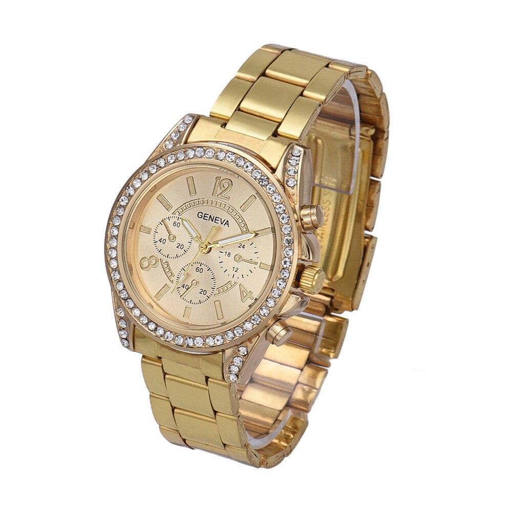 2017 Vente Chaude Femelle montre de Haute Qualité montres À Quartz Gofuly Femmes Strass Cristal Quartz Analogique Montre-Bracelet de Vente Chaude
